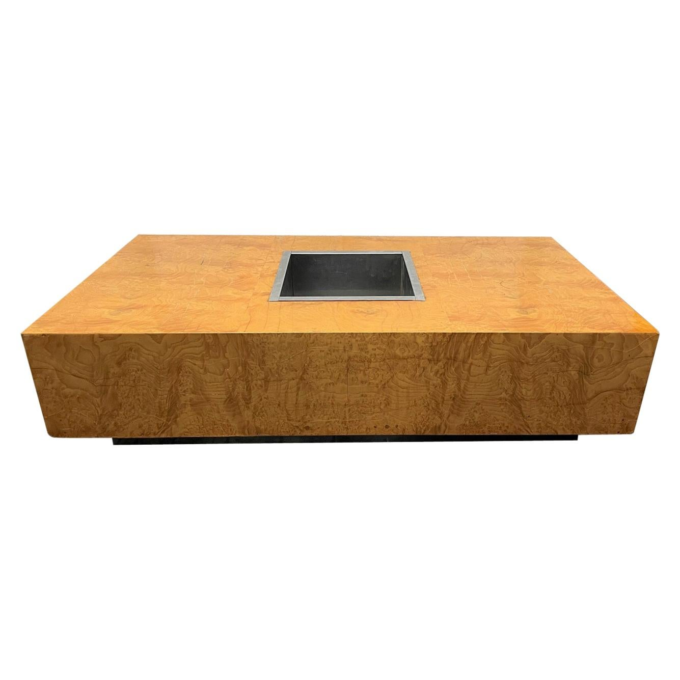 Burl Coffee Table Style of Willy Rizzo