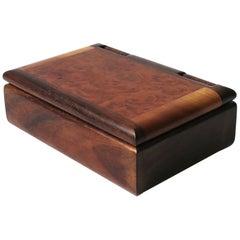 Burl Hardwood Dresser Vanity Jewelry Box