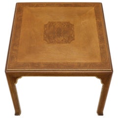 Burl Inlay Square Mid-Century Modern Game Table by John Stuart