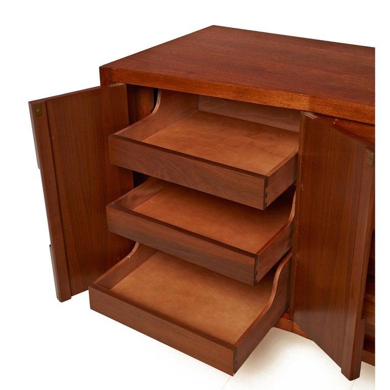 Burl Inlay Walnut Dresser Credenza by Daniel Jones Inc. In Excellent Condition For Sale In Saint Petersburg, FL