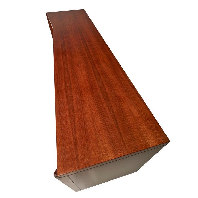 Burl Inlay Walnut Dresser Credenza by Daniel Jones Inc. For Sale 1