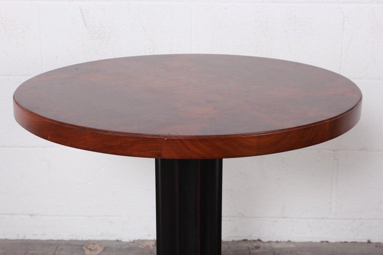 Mid-20th Century Burl Lamp Table Attributed to Edward Wormley for Dunbar For Sale