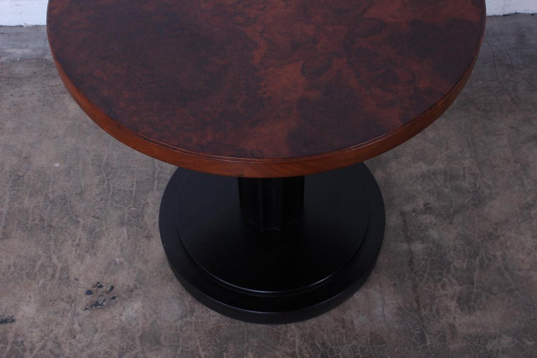 Burl Lamp Table Attributed to Edward Wormley for Dunbar For Sale 2