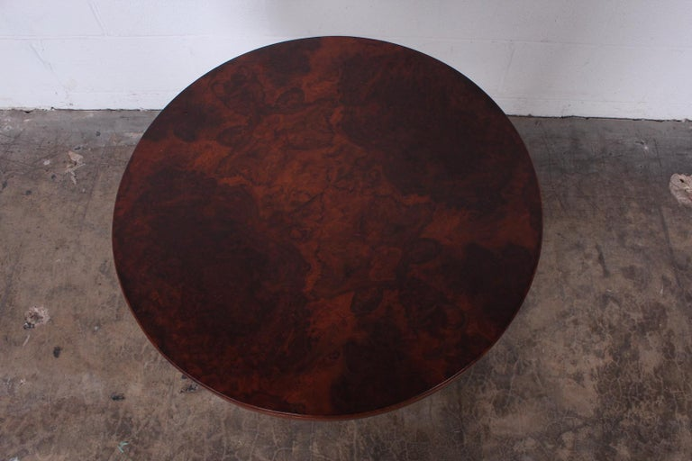 Burl Lamp Table Attributed to Edward Wormley for Dunbar For Sale 5
