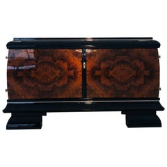Burl Lowboard or Commode from the Art Deco Era
