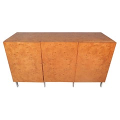 Burl Maple Credenza in the Style of Milo Baughman