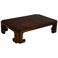 Burl Walnut Coffee Table by Baker Furniture
