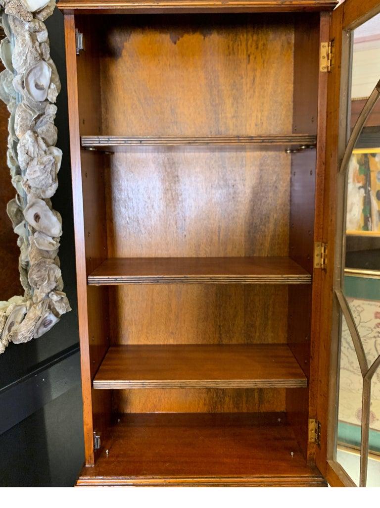 Burl Walnut Slim Secretary Desk by Baker Furniture For Sale 4