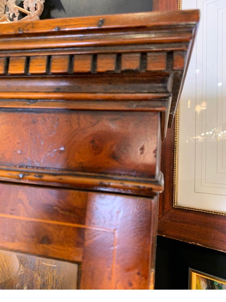 Burl Walnut Slim Secretary Desk by Baker Furniture For Sale 3