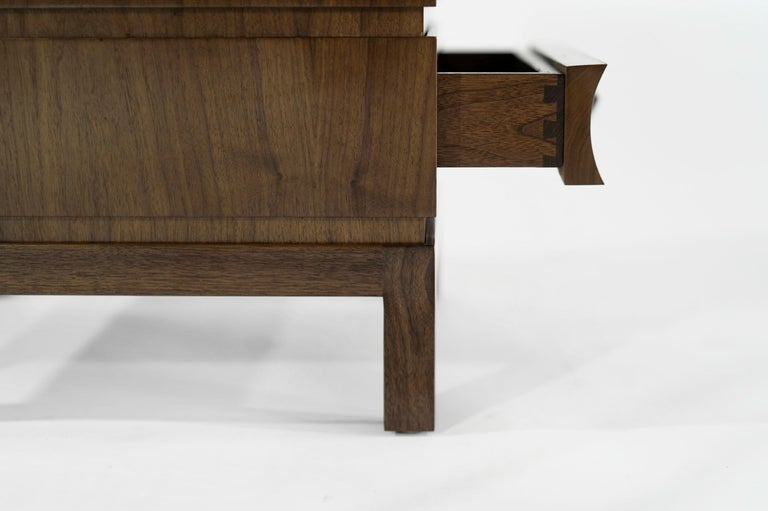 Stamford Modern's Stacked End Tables in Walnut For Sale 8