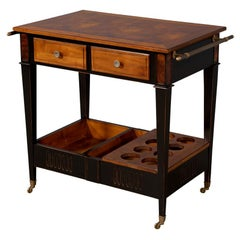 Burl Wood Bar Cart by Baker Furniture