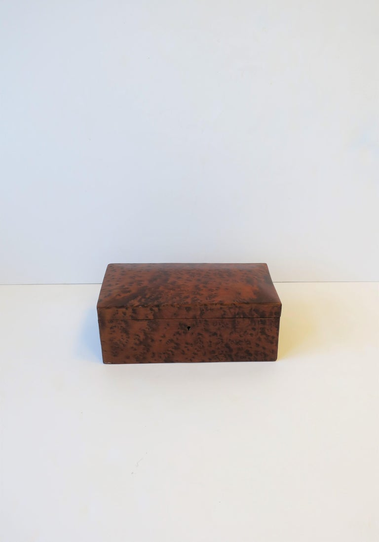 European Vintage Burl Wood Box For Sale