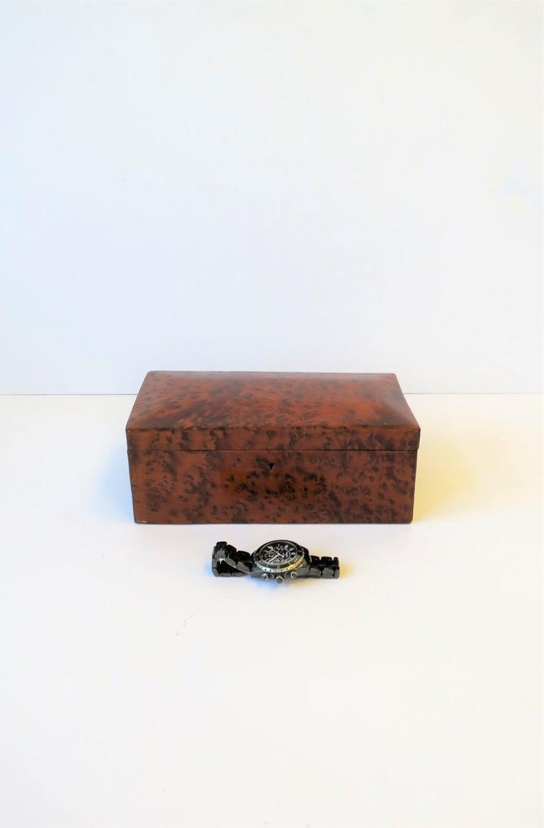 Vintage Burl Wood Box For Sale 2