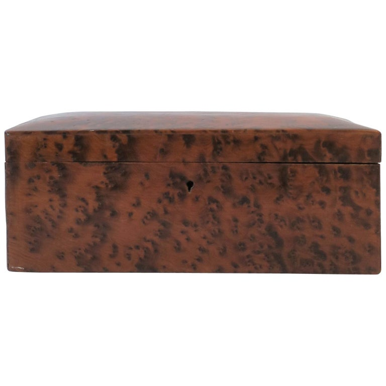 Vintage Burl Wood Box For Sale