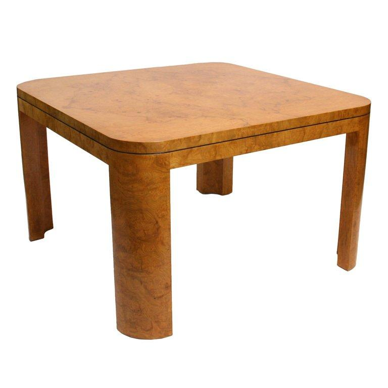 Wood Dining Table For Sale: Burl Wood Dining Or Game Table For Sale At 1stdibs