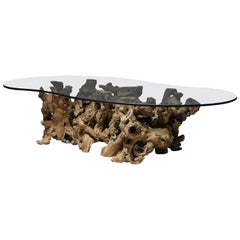 Burl Wood Driftwood Coffee Table
