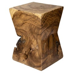 Burl Wood End Table or Stool