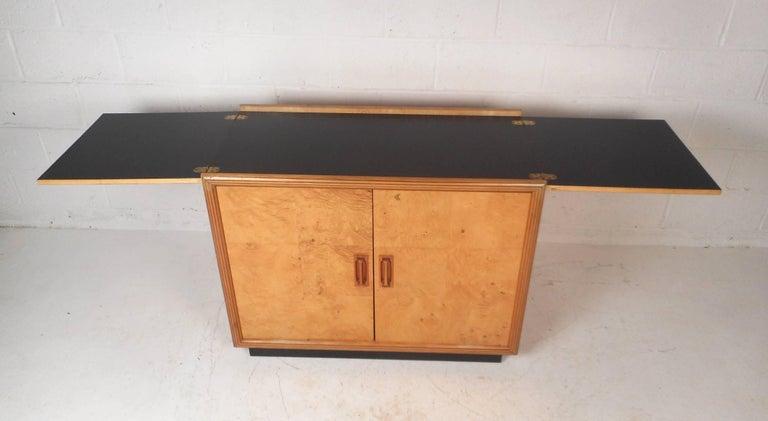 Burl Wood Flip Top Dry Bar