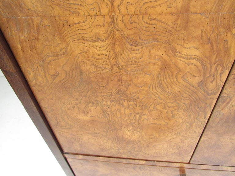 Burl Wood Linen Cabinet by Century Furniture For Sale 2