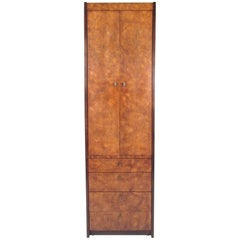 Burl Wood Linen Cabinet by Century Furniture