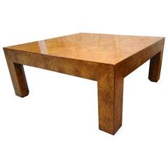Burl Wood Midcentury Coffee Table