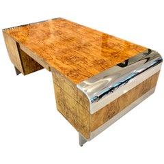 Burl Wood Pace Desk by Leon Rosen