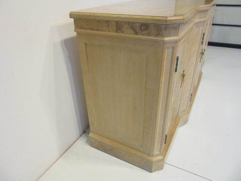 Burl Wood Sideboard / Cabinet by Heritage from the Corinthian Collection For Sale 4
