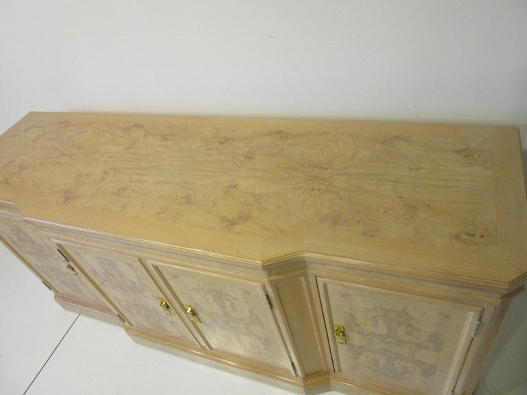 Burl Wood Sideboard / Cabinet by Heritage from the Corinthian Collection For Sale 5