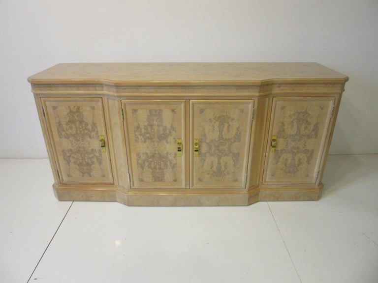 Burl Wood Sideboard / Cabinet by Heritage from the Corinthian Collection For Sale 8