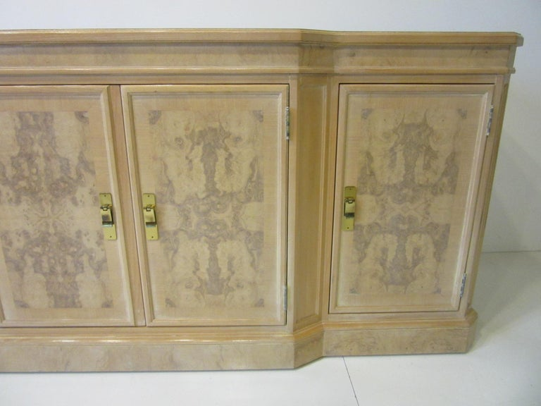 Regency Burl Wood Sideboard / Cabinet by Heritage from the Corinthian Collection For Sale