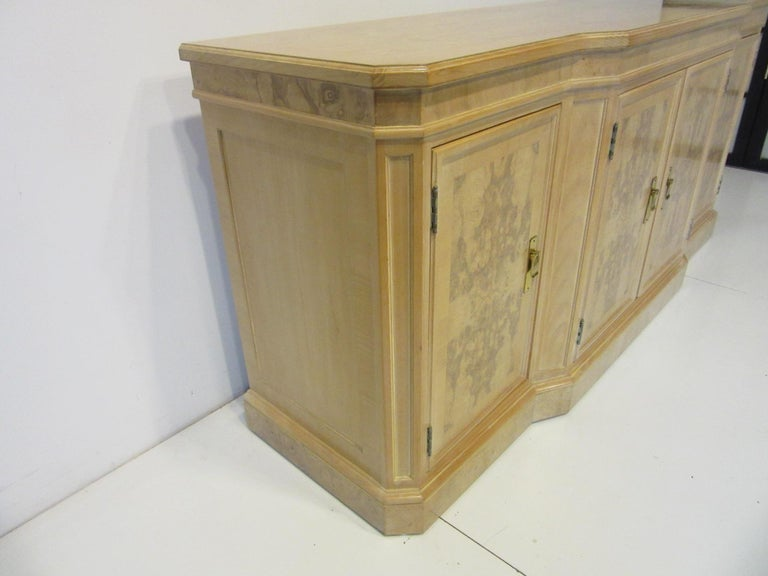 Burl Wood Sideboard / Cabinet by Heritage from the Corinthian Collection For Sale 2