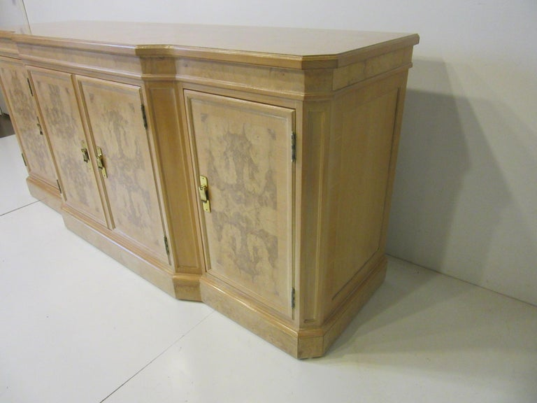 Burl Wood Sideboard / Cabinet by Heritage from the Corinthian Collection For Sale 3