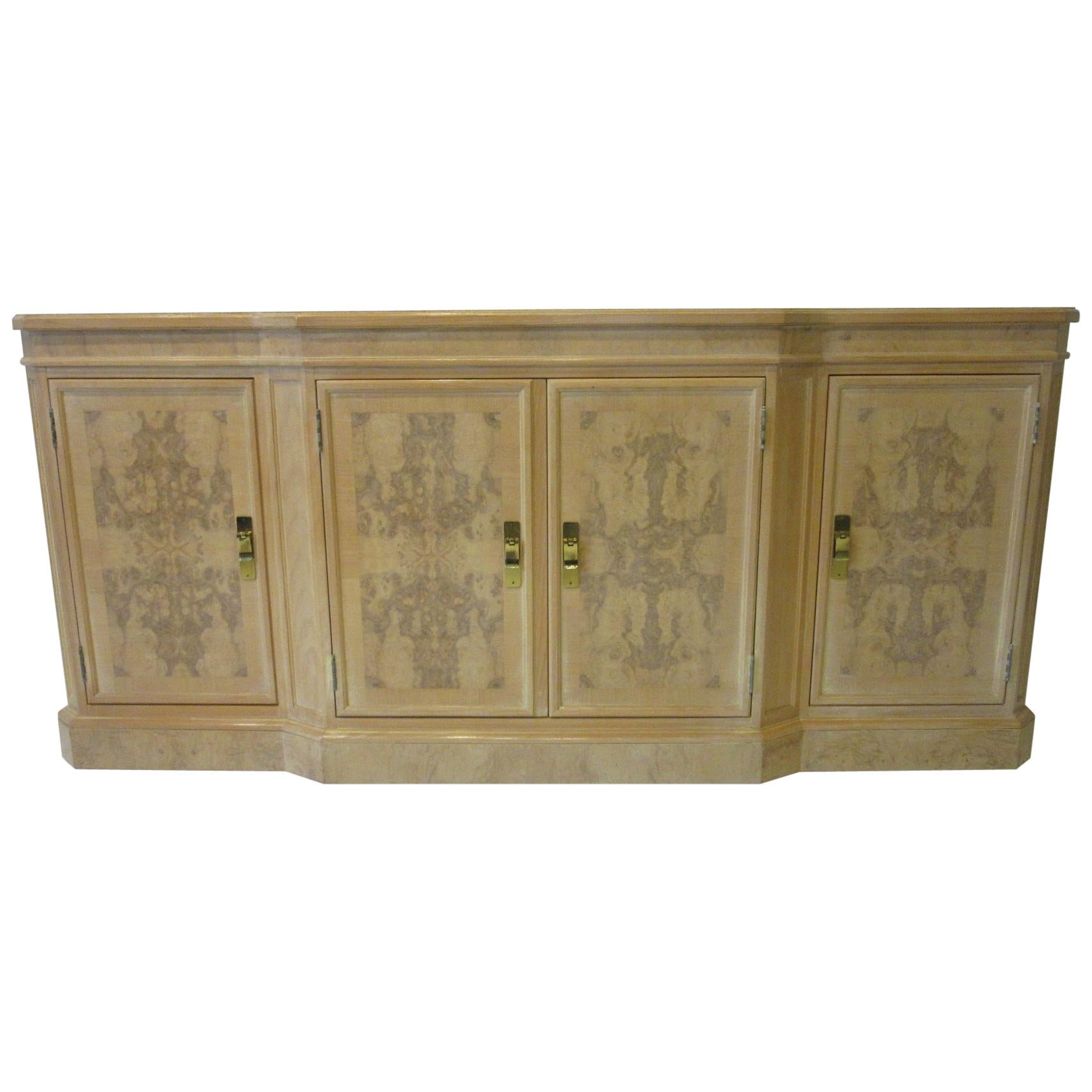 Burl Wood Sideboard / Cabinet by Heritage from the Corinthian Collection