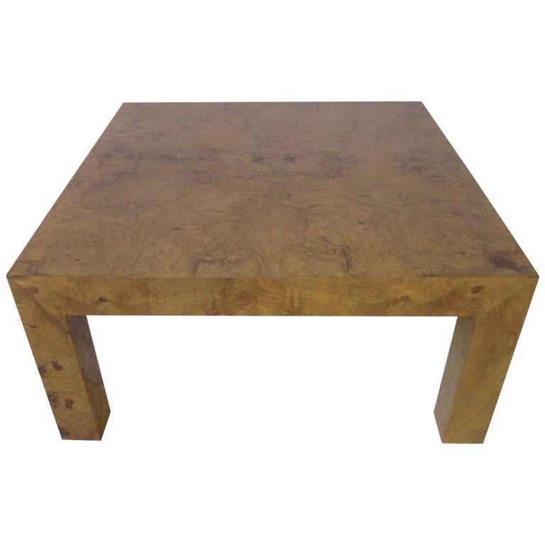 Sensational Burl Wood Small Scale Coffee Table In The Style Of Milo Baughman Machost Co Dining Chair Design Ideas Machostcouk
