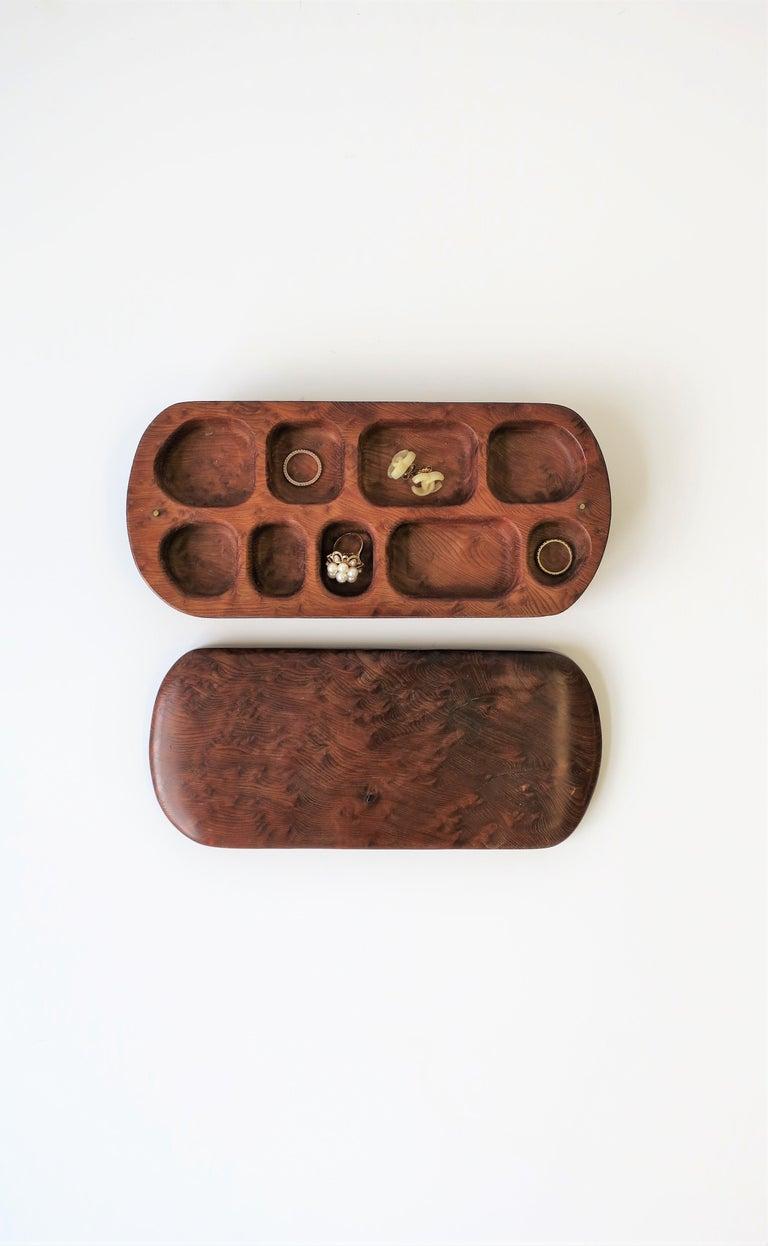 Burl Wood Vanity Jewelry Box For Sale 4