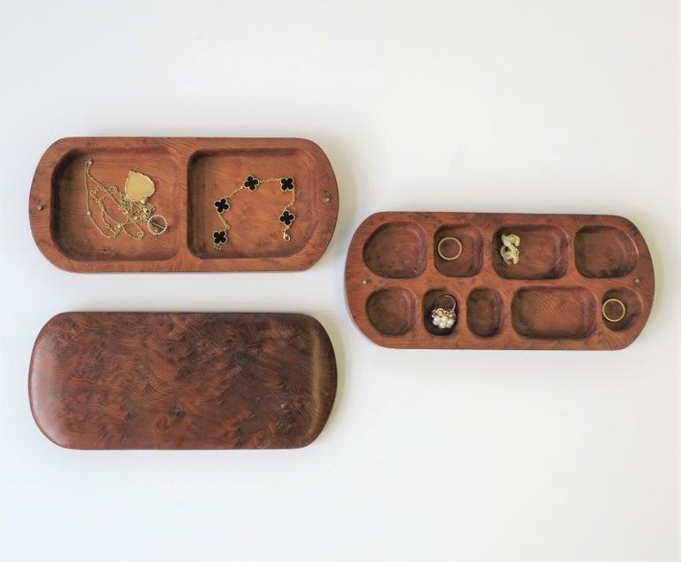 Burl Wood Vanity Jewelry Box For Sale 5