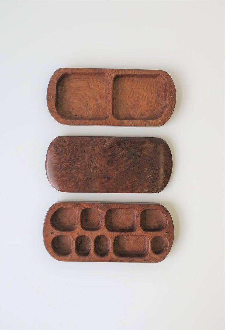 20th Century Burl Wood Vanity Jewelry Box For Sale