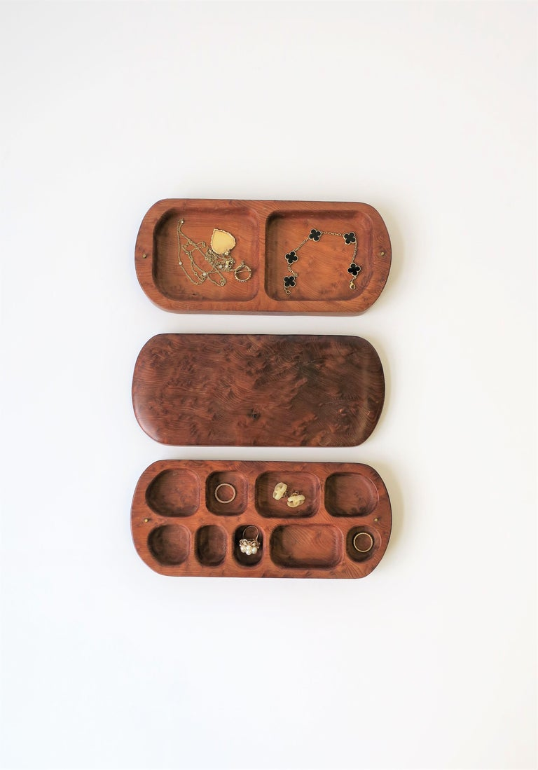 Burl Wood Vanity Jewelry Box For Sale 1