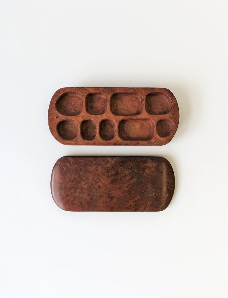 Burl Wood Vanity Jewelry Box For Sale 3