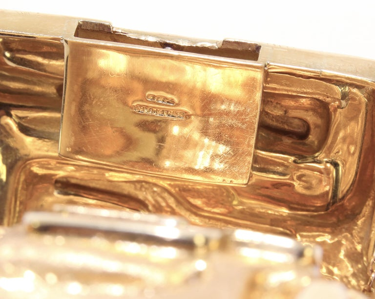 Burle Marx 18 Karat Gold Cuff Bracelet Estate Fine Jewelry In Excellent Condition For Sale In Montreal, QC