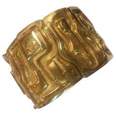 Burle Marx 18 Karat Gold Cuff Bracelet Estate Fine Jewelry