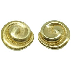 Burle Marx 18 Karat Gold Earrings