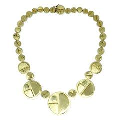 Burle Marx 18 Karat Gold One-of-a-Kind Necklace