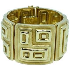 Burle Marx Rare 18 Karat Gold Wide Bracelet