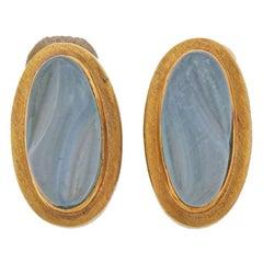Burle Marx Forma Livre Aquamarine Gold Earrings