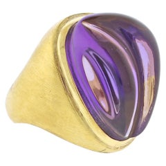 Burle Marx Forma Livre Carved Amethyst Ring