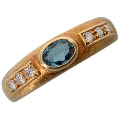 Burle Marx Blue Topaz Gold Ring