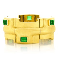 Burle Marx Tourmaline and Gold Modernist Bracelet