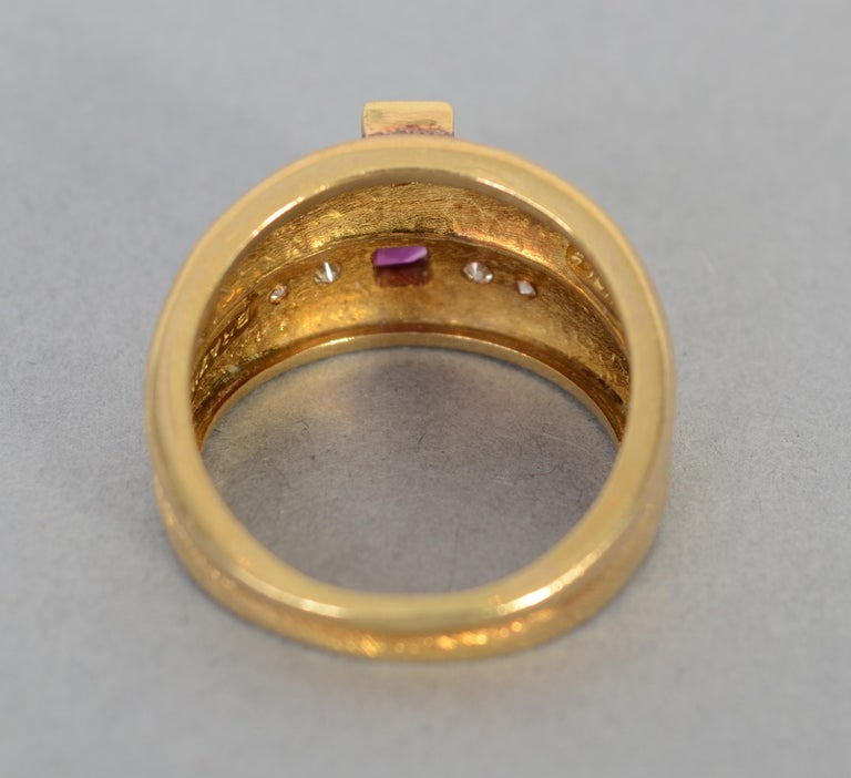 Women's or Men's Burle Marx Tourmaline Gold Ring For Sale