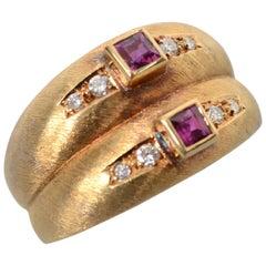 Burle Marx Tourmaline Gold Ring